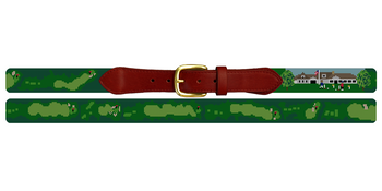 Captains Golf Course Needlepoint Belt