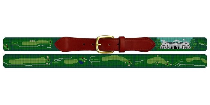 Lexington Kentucky Golf Course Needlepoint Belt
