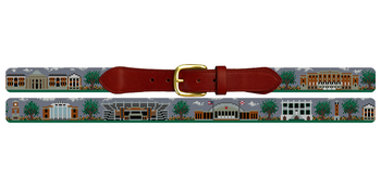 Tuscaloosa Alabama Landscape Needlepoint Belt University of Alabama