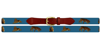 Bloodhound Needlepoint Belt