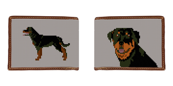 Rottweiler Needlepoint Wallet