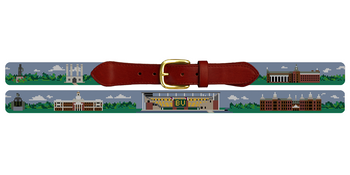 Waco Texas Landscape Needlepoint Belt Baylor University