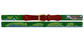 Pebble Beach Golf Course Needlepoint Belt