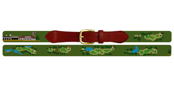Westhampton Golf Course Needlepoint Belt