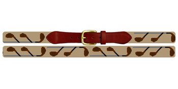 Fairway Woods Needlepoint Belt