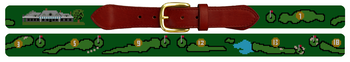 Misquamicut Golf Course Needlepoint Belt