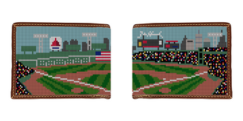 Baseball Field Needlepoint Wallet
