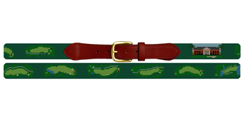 Green Island Golf Course Needlepoint Belt