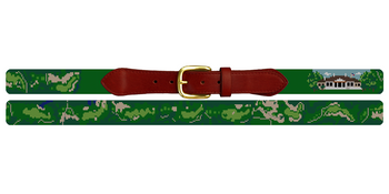 Johns Island Golf Course Needlepoint Belt