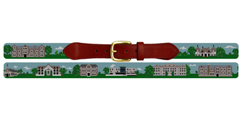 New London Connecticut Landscape Needlepoint Belt Connecticut College