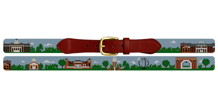 Oxford Ohio Landscape Needlepoint Belt University of Miami Ohio