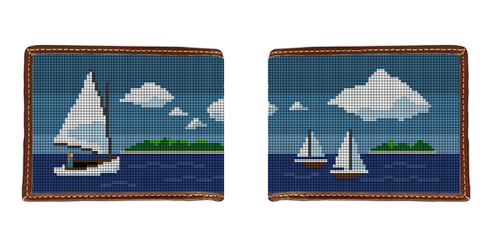 Island Sailing Needlepoint Wallet