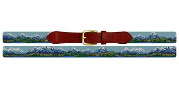 Rocky Mountain Needlepoint Belt