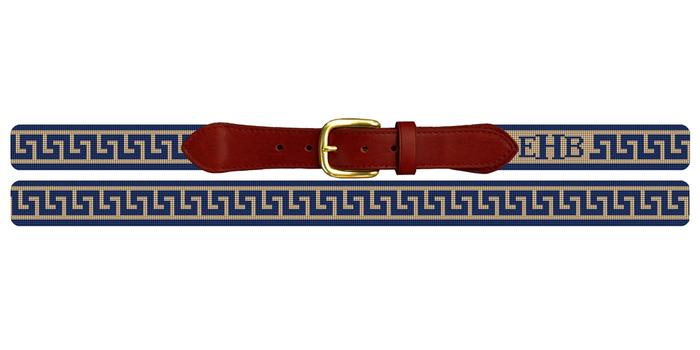 Greek Key Needlepoint Belt
