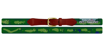 Country Club of Columbus Golf Course Needlepoint Belt