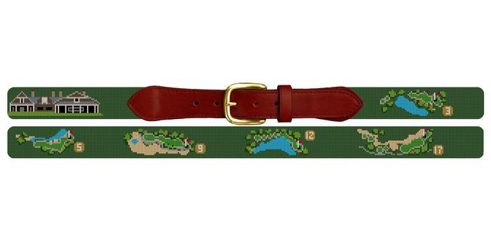 Kiawah River Golf Course Needlepoint Belt