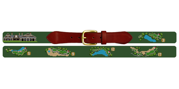 Kiawah River Golf Course Needlepoint Belt