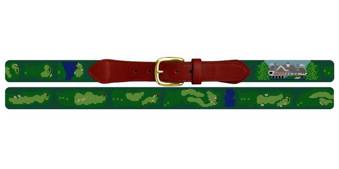 Kinloch Golf Course Needlepoint Belt