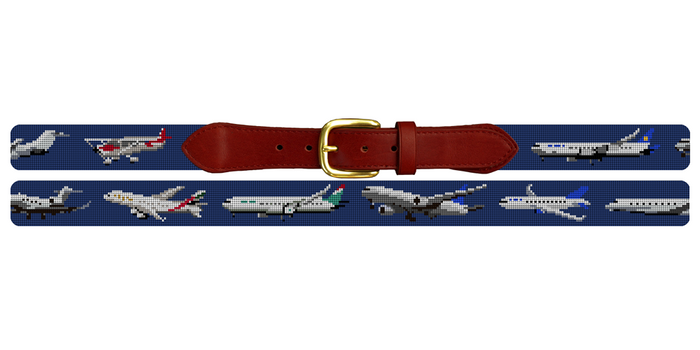 Aviation Needlepoint Belt