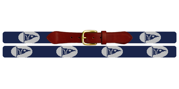 Custom Burgee Flag Needlepoint Belt