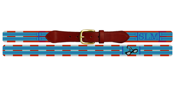 Swimming Needlepoint Belt