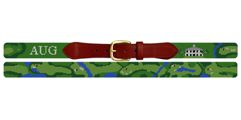 Augusta National Golf Course Needlepoint Belt
