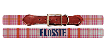 Pretty Plaid Needlepoint Dog Collar