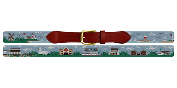 The Hamptons Needlepoint Belt