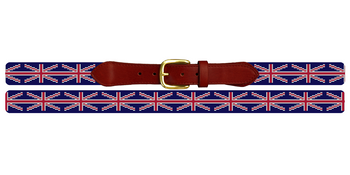 Union Jack Flag Needlepoint Belt