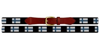Finland Flag Needlepoint Belt