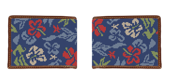 Aloha Hibiscus Needlepoint Wallet