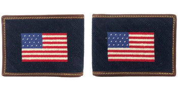 Old Glory American Flag Needlepoint Wallet