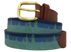 Dark Forest Needlepoint Belt