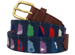 Crew Paddles Needlepoint Belt
