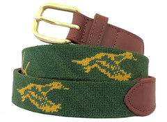 Hunting and Fishing Needlepoint Belt