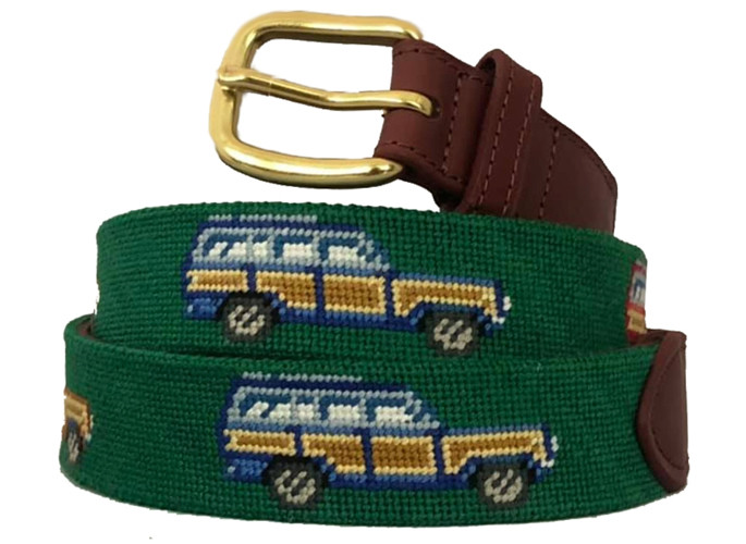 Wagoneer Needlepoint Belt
