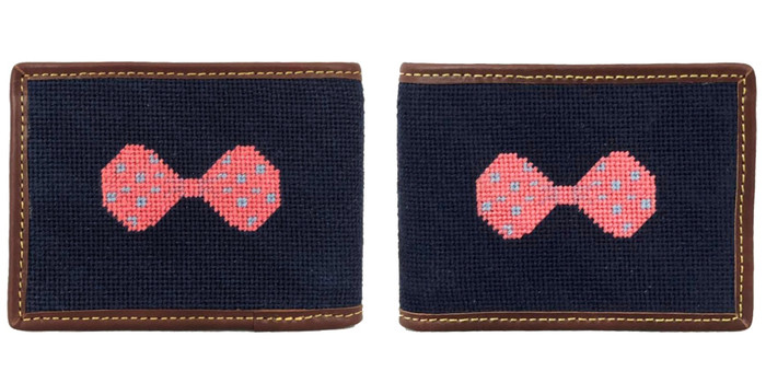 Bow Needlepoint Wallet