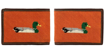 Duck Needlepoint Wallet