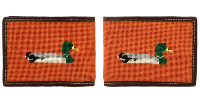 Duck Needlepoint Wallet