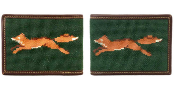Fox Needlepoint Wallet