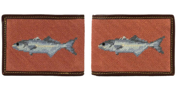 Fish Needlepoint Wallet