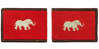 Elephant Needlepoint Wallet