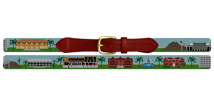 Tempe Arizona Landscape Needlepoint Belt Arizona State University