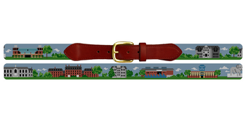Kingston Rhode Island Landscape Needlepoint Belt University of Rhode Island