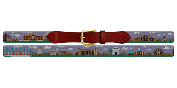 Providence Rhode Island Landscape Needlepoint Belt Brown University