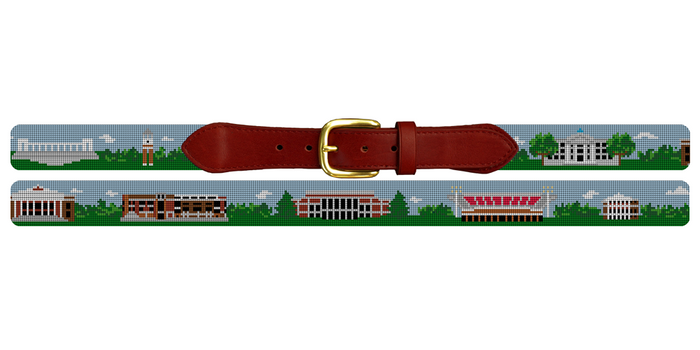 Bowling Green Kentucky Landscape Needlepoint Belt Western Kentucky University