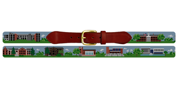 Glassboro New Jersey Landscape Needlepoint Belt Rowan University