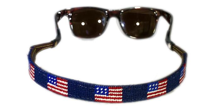 American Flag Needlepoint Sunglass Strap
