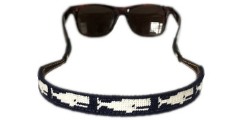 Whale Needlepoint Sunglass Strap