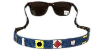 Nautical Signal Flag Needlepoint Sunglass Strap